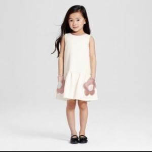 06d84690eca57 ... Victoria Beckham 3T Sleeveless White Dress Girls Large White Floral ...